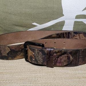 Mens Camouflage Leather Belt